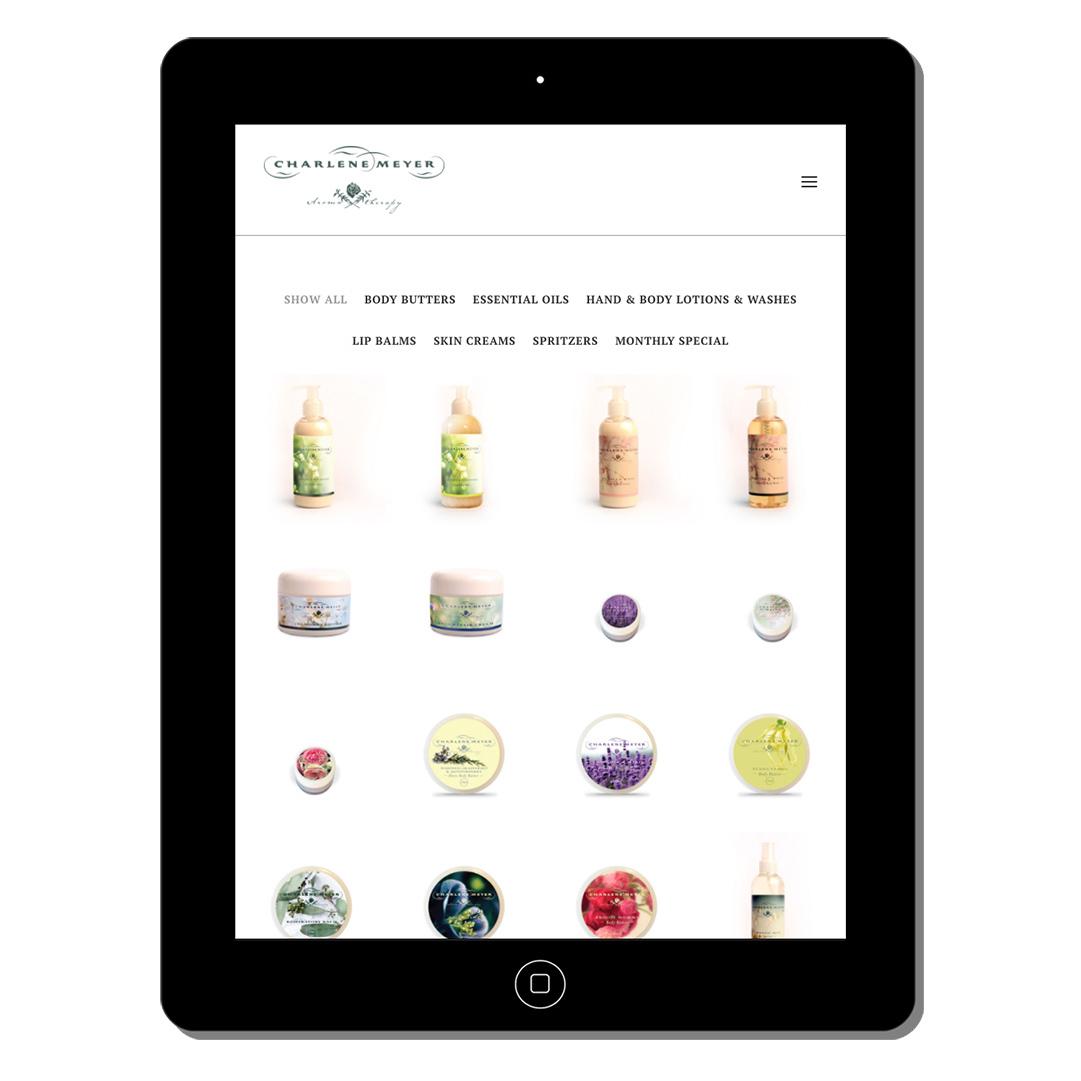 charlene meyer web design portfolio webdoor-responsive-web-design-agency-hillcrest-kwazulu-natal-tablet