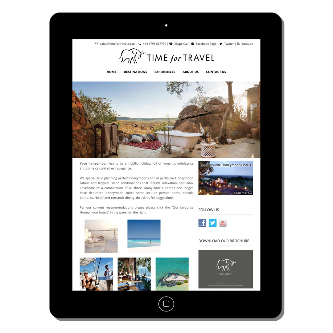 time for travel-web-design-portfolio-webdoor-responsive-web-design-agency-hillcrest-kwazulu-natal-tablet