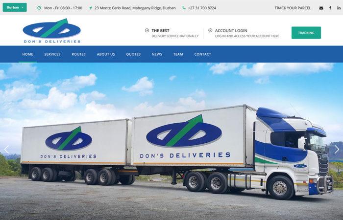 dons deliveries web-design-portfolio-webdoor-responsive-web-design-agency-hillcrest-kwazulu-natal