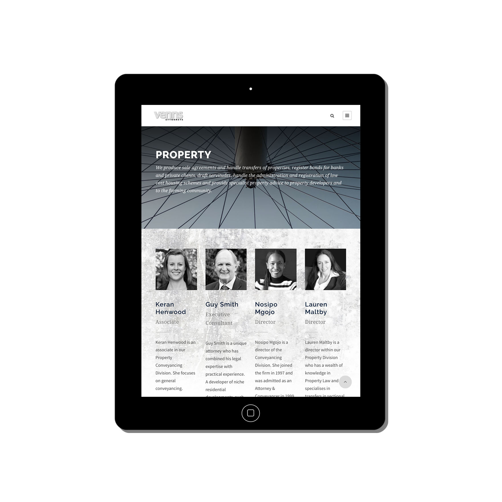 venns-web-design-portfolio-webdoor-responsive-web-design-agency-hillcrest-kwazulu-natal-tablet